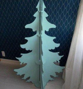 Деревянные дизайнерские елки