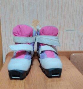 Ботинки лыжные девочка