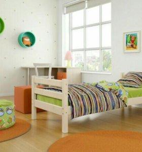 Кровать с матрасом детская, новая
