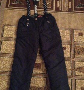 Фирменные теплые брюки на 6 лет