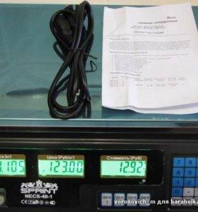 Весы торговые электронные Sprint necs 40-1