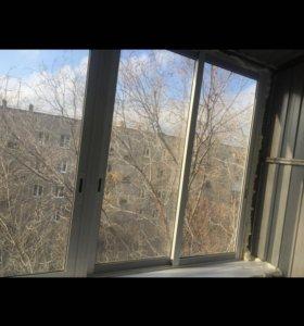 Окна пластиковые раздвижные, новые