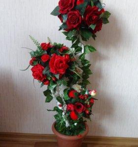 """Топиарий """"Красные розы"""""""