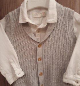 Рубашка и жилетку 86-92