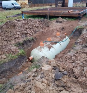 Зимний монтаж канализации