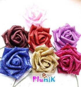 Розы из вспененного силикона (фоам) блеск