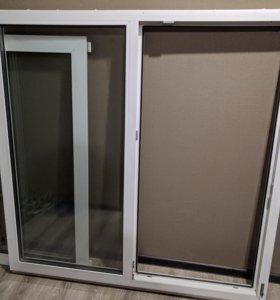 Окно пластиковое б/у 142х142см