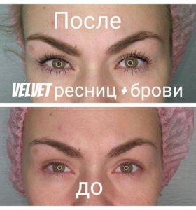 VELVET, ламинирование, Botox Lashes ресниц.