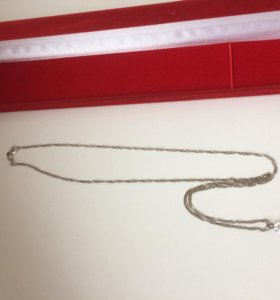 Серебряная цепочка с кулоном (новые)