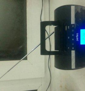 Блютуз колонка с радио и будильником