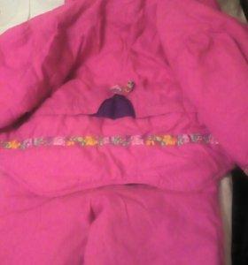 Куртка и штанишки для девочки. Подойдет на4_6лет.