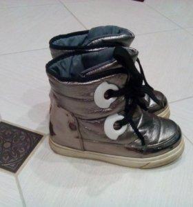 Зимние ботиночки металлик