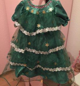 Платье новогоднее елочка