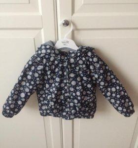 Детская куртка ветровка с ромашками