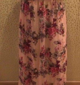 Платье в пол (подойдёт для беременных)