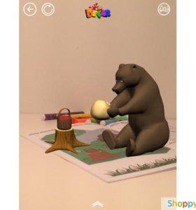 Живая сказка-раскраска «Колобок» 3D