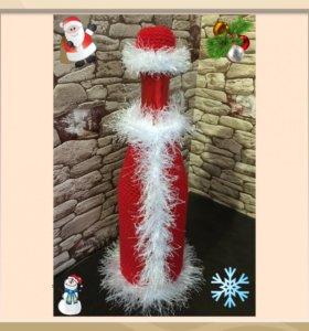 Чехол на бутылку шампанского Дед Мороз