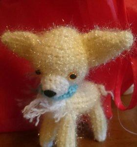 Собачка,ручная работа Чихуахуа,символ года