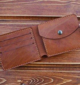 Кожаный кошелек ручной работы от мастерской Ledo