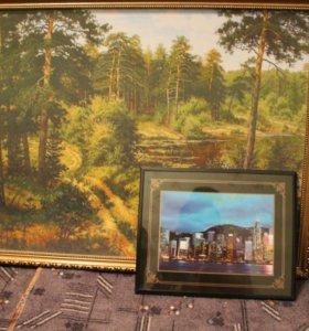 Две картины и другое украшение для дома