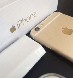 Айфон 6, 64 Gold без Touch ID
