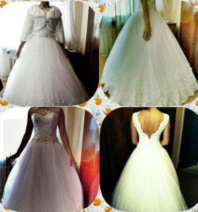 Свадебное платье + клатч.