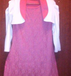 платье с болеро, на р. от 116см