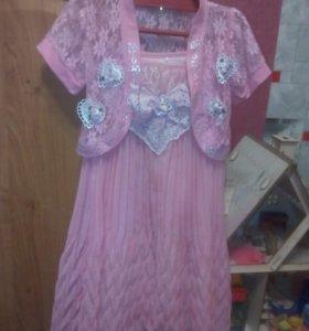 продам платье на брительках с болеро, р. от 116см