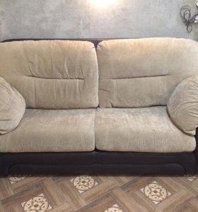 Диван-кровать+два кресла