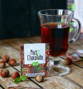 Чай с шоколадный вкусом и орехом