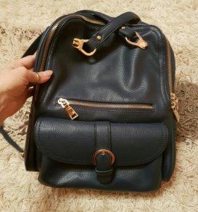 Сумка рюкзак -кожа
