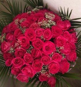 Розы Цветы свежие Букеты. 25 шт