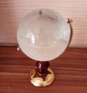 Глобус сувенирный стеклянный