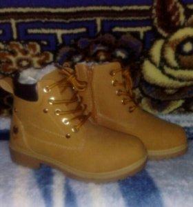 Новые зимние ботинки,р-р32
