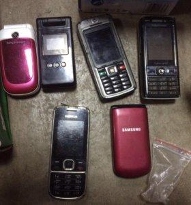 Телефоны бу и батарейки разные