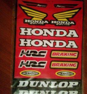 Наклейки Honda