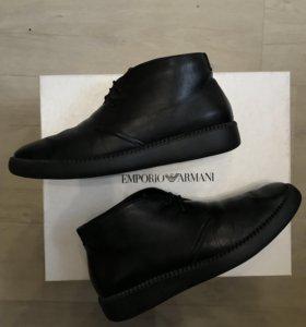 Зимние кожаные ботинки Armani