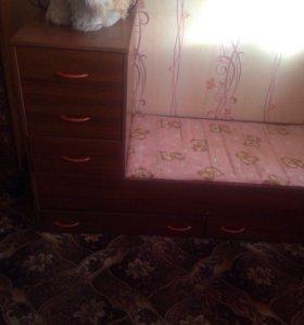 Детская кроватка( трансформер)