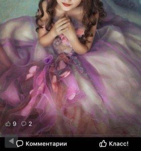 Платье р.122-140 пышное красивое