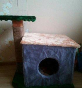 Дом- когтеточка для кошек