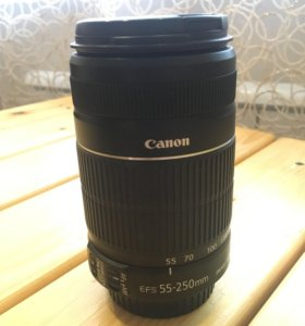 Объектив Canon efs 55-250mm 1.1m/3.6ft (новый)