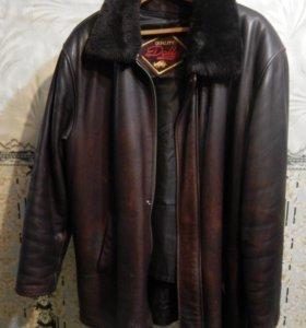 Кожаная куртка с натуральной подстежкой