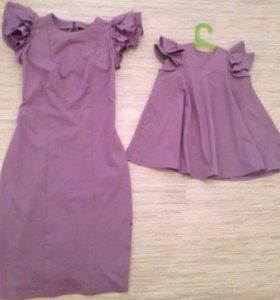 Платья мама+доча