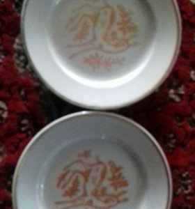Тарелки блюдца столовые