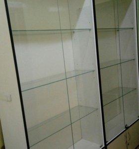 новые стеклянные витрины с накопителем