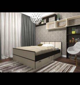 Кровать односпальная/полуторка матрац