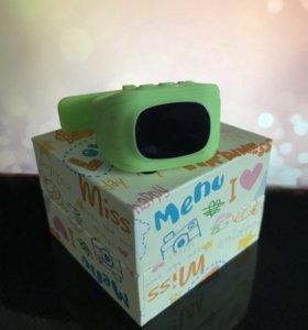 Умные детские часы - телефон с gps зеленые