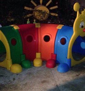 Гусеница тоннель для детей