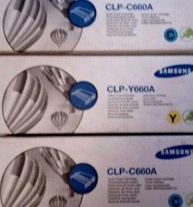 Оригинальные картриджи Samsung CLP-Y660A CLP-C660A
