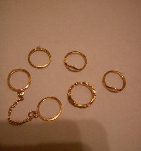 Кольца. Золотое напыление.